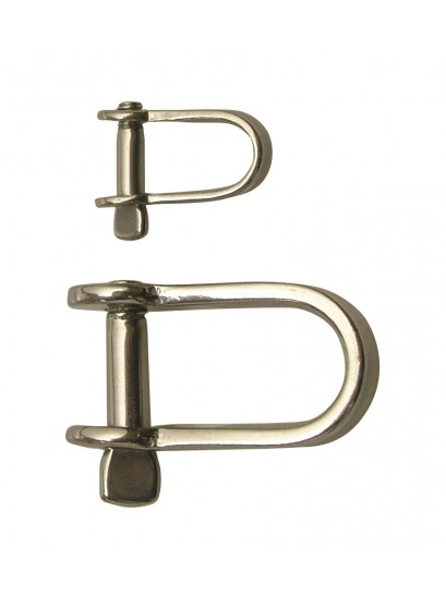PAIRS OF STAINLESS STEEL LIGHT DUTY D SHACKLES