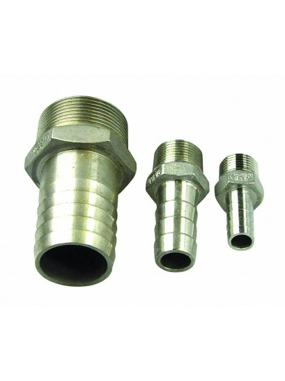Hose Tails - Stainless Steel - Male Thread