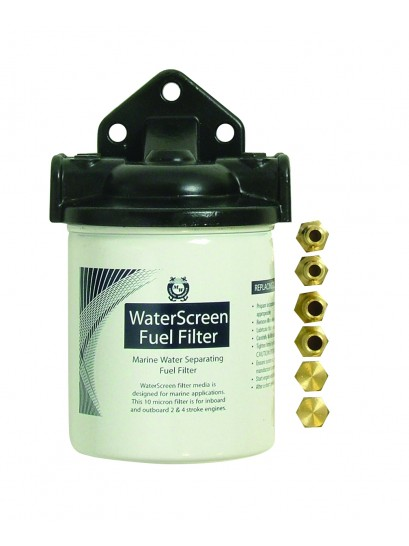 Spin On water screen fuel filter assembly - OMC AND MERCURY CARTRIDGES