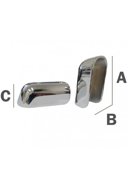 Chrome Plated Brass Gunwale Rubber End Caps