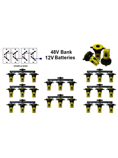 "12v Battery Watering Kit - 48v Banks  2.7"" Spacing - Chevron"
