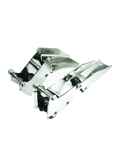 BOW ROLLERS STAINLESS STEEL HINGED