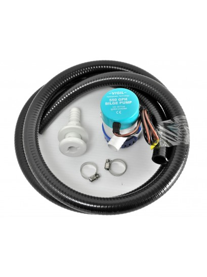 Bilge Pump Plumbing Kit 19mm With Pump