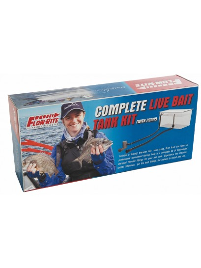 Flow-rite live bait tank kit - including Johnson pump