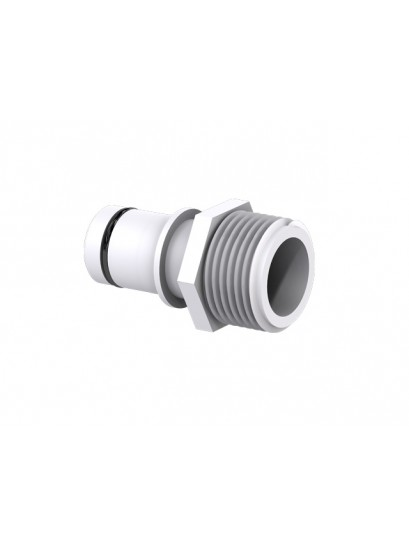 19mm  Qwik-Lok Male X Male Garden Hose Thread Adapter - For Ballast Bags