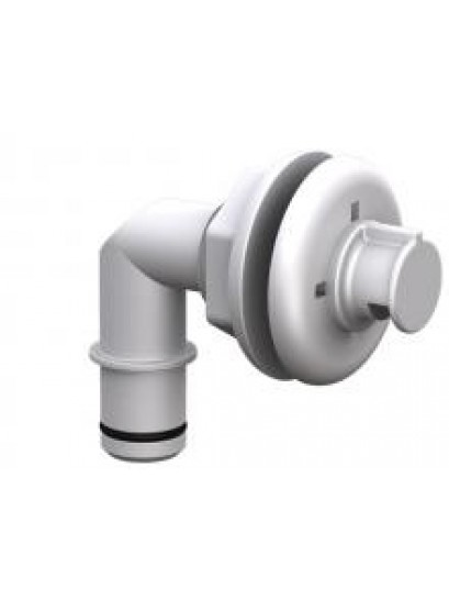 "THROUGH HULL SPRAY HEAD 3/4"" ELBOW WHITE"