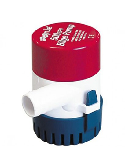 "Rule 500 GPH Bilge Pump Model 25D with 3/4"" barb outlet"