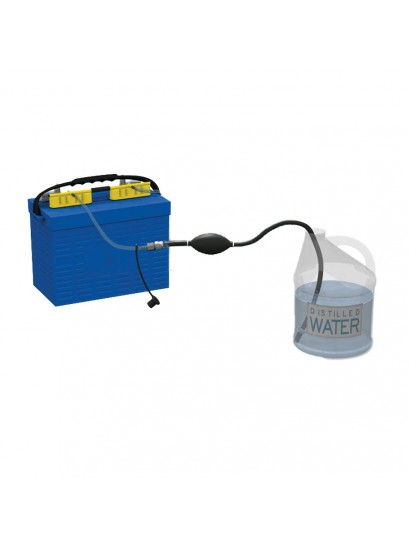 Flow-Rite MP-2010 Qwik Fill Single Battery Watering System with Hand Pump