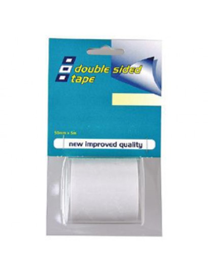 DOUBLE SIDED TAPE 38MM X 5M CLEAR