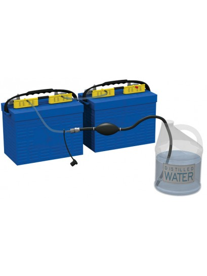 Flow-Rite MP-2000 Qwik Fill Dual Battery Watering System with Hand Pump