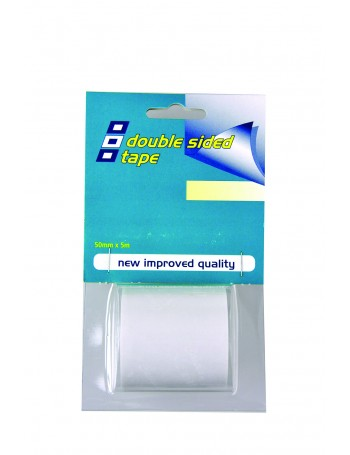 DOUBLE SIDED TAPE CLEAR 50MM X 5M
