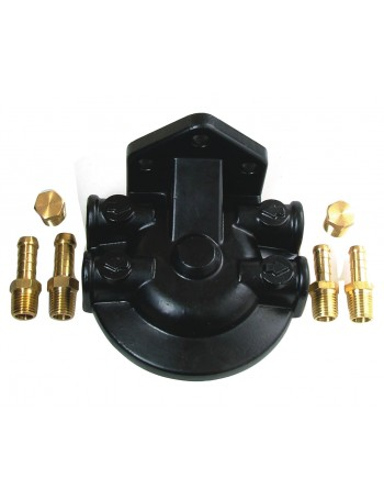 FILTER HEAD WITH BRASS FITTINGS