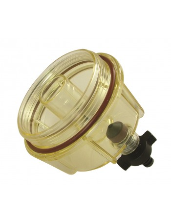 FUEL FILTER BOWL CLEAR WITH VITON SEAL