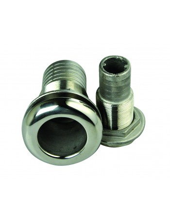 Skin Fittings - Stainless Steel with Hose Tail