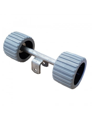 TWIN WOBBLE ROLLER ASSEMBLIES RIBBED