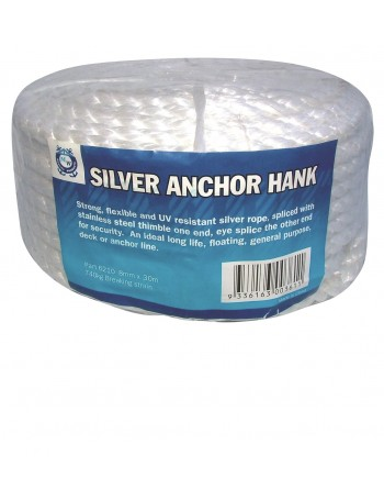 SILVER ROPE HANKS