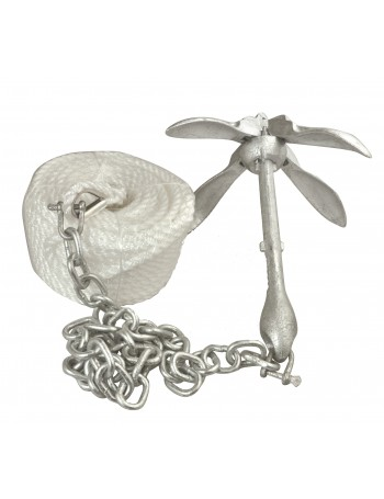 GRAPNEL ANCHOR KIT 1.5KG 30M ROPE 1M CHAIN