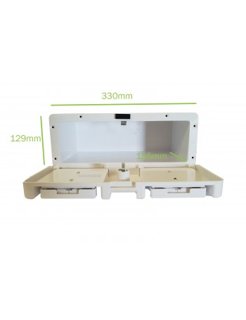 LOCKING GLOVE BOX - WHITE