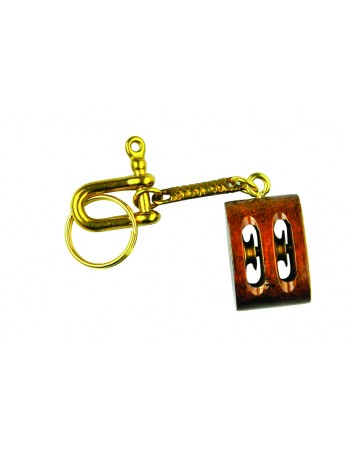 KEY CHAIN WOODEN ROPE SHEATH