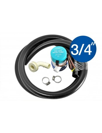 550GPH Bilge Pump Kit - Right Angled