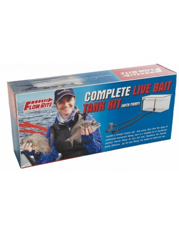 FLOW-RITE LIVE BAIT TANK KIT INCL JOHNSON ANGLE
