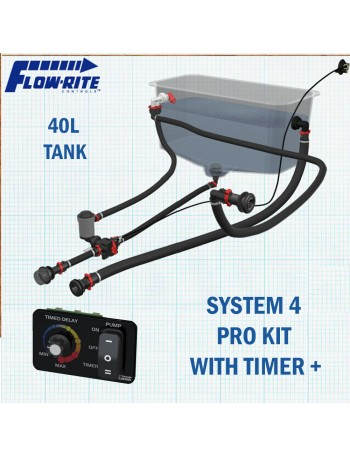 Flowrite Livewell 40L Assembly - System 4 Kit and 40L Tank + Pro Timer Upgrade