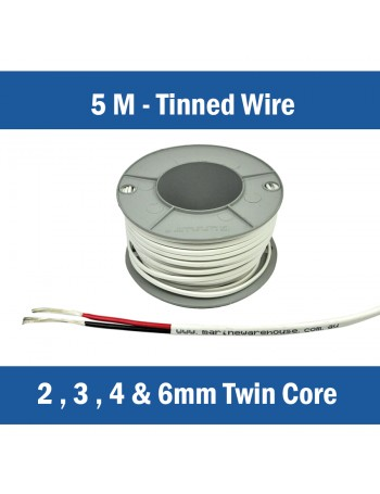 TWIN CORE TINNED WIRE - 5M CUTS