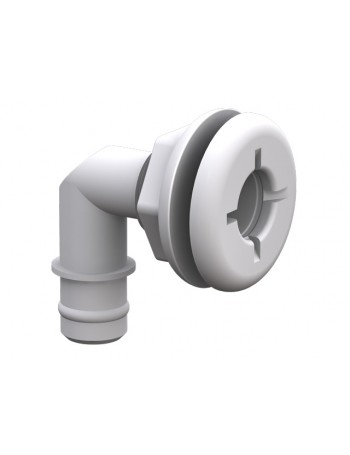 "QWIK LOK FLANGED ELBOW 3/4"" WHITE"
