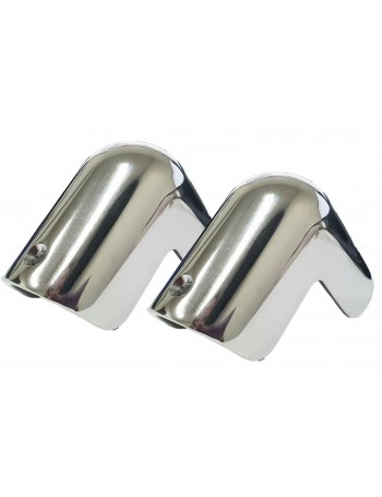 Chrome plated brass Gunwale Rubber Corner Caps