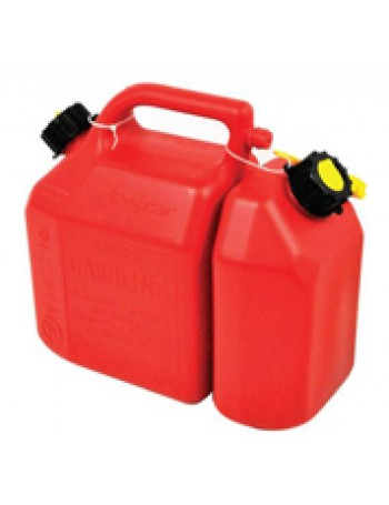 Jerry Can & Oil Can Combo Unit  (6L & 2.5L) - With 2 Spouts - Scepter 2999