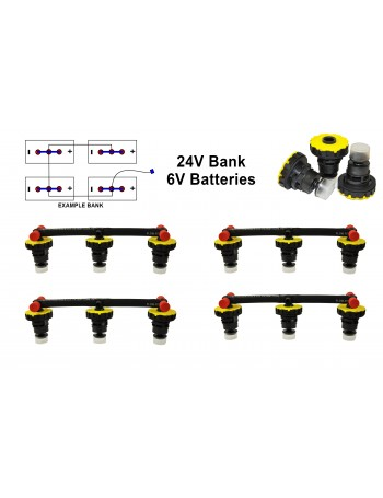 6v Battery Watering Kit - 24v Banks  2.6