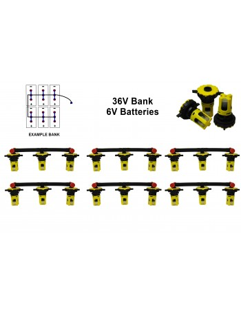 6v Battery Watering Kit - 36v Banks  2.6