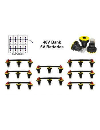 6v Battery Watering Kit - 48v Banks  2.6