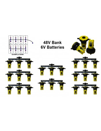 6v Battery Watering Kit - 48v Banks  2.7