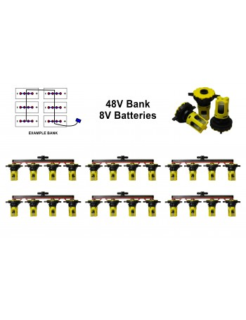 8v Battery Watering Kit - 48v Banks 2.5