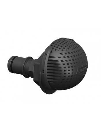 Drain fitting Low Profile Straight - 19mm Black
