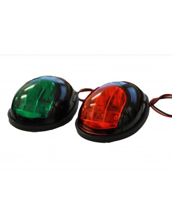 IP68 LED Navigation Side Lights Black