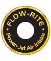 Power Jet Air Intake Mounting Plate Decals- Single- Gold Lettering