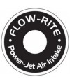 Power Jet Air Intake Mounting Plate Decals, Single, White Lettering